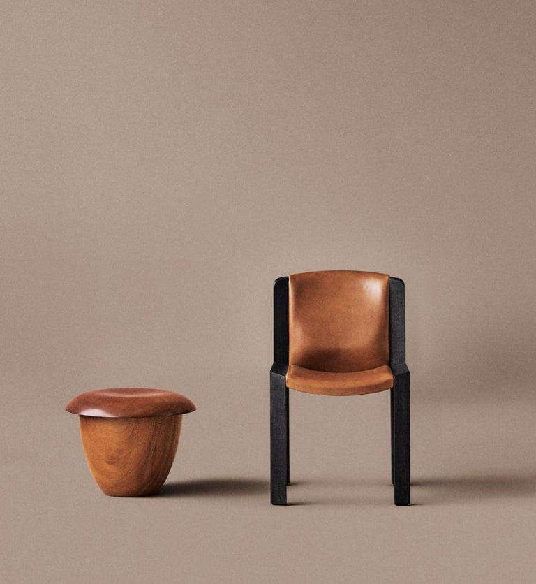 The Mahogany Stool is the wooden version of Aldo Bakker's Pink Stool, originally made with Urushi lacquer. It has a calm and self-reliant attitude. It consists of two contradictive container shapes put together: an upright and deep vertical shape