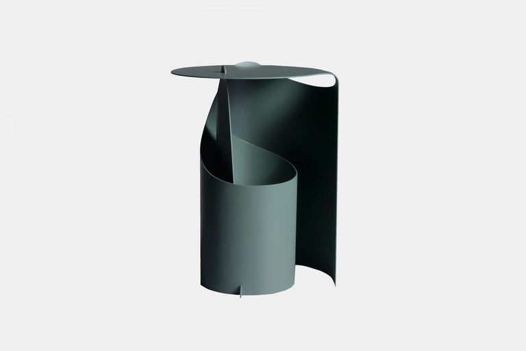 Many items in Karakter's collection can be defined by their production methods, innovative construction practices that minimize the use of unnecessary materials. Aldo Bakker's Coffee Table consists of a single sheet of steel, cut so that it can be