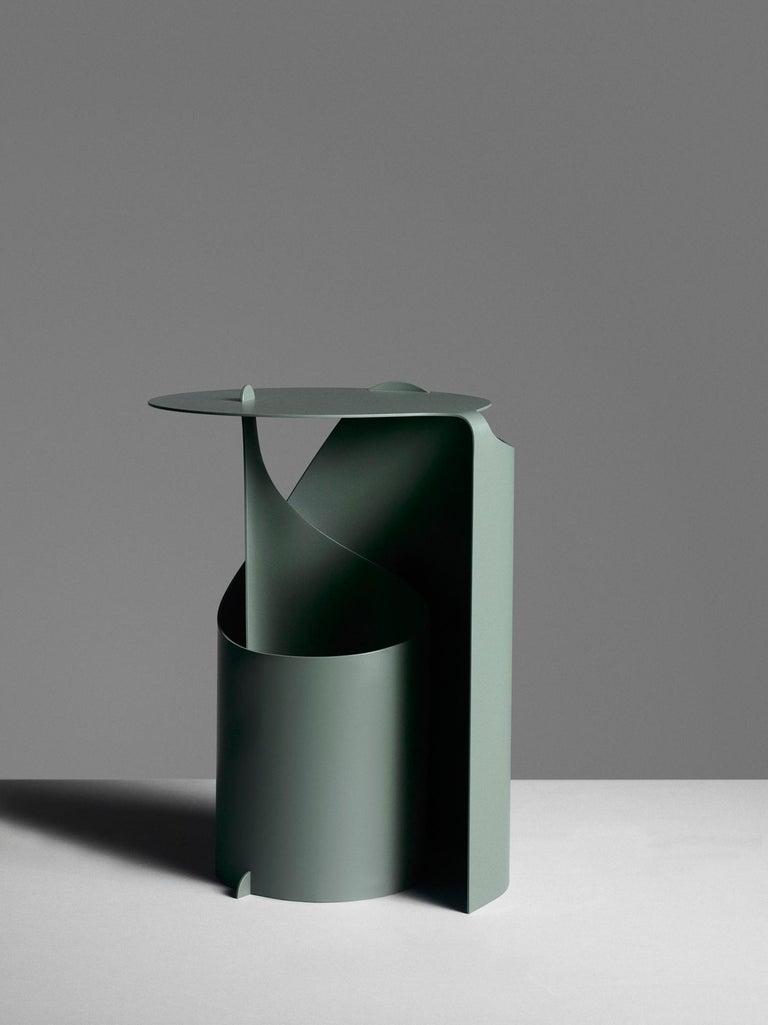 Modern Aldo Bakker Side Table Green Karakter Coppenhagen Editions For Sale