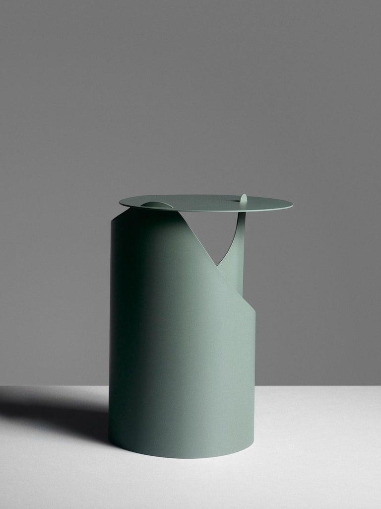 Painted Aldo Bakker Side Table Green Karakter Coppenhagen Editions For Sale