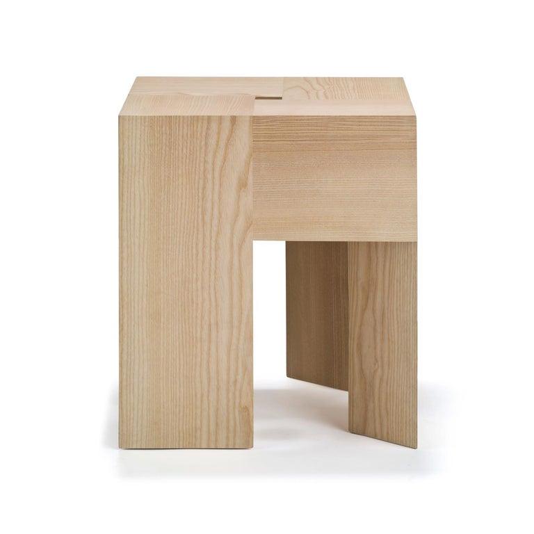 Mid-Century Modern Aldo Bakker 'Triangle' Wood Stool or Side Table For Sale