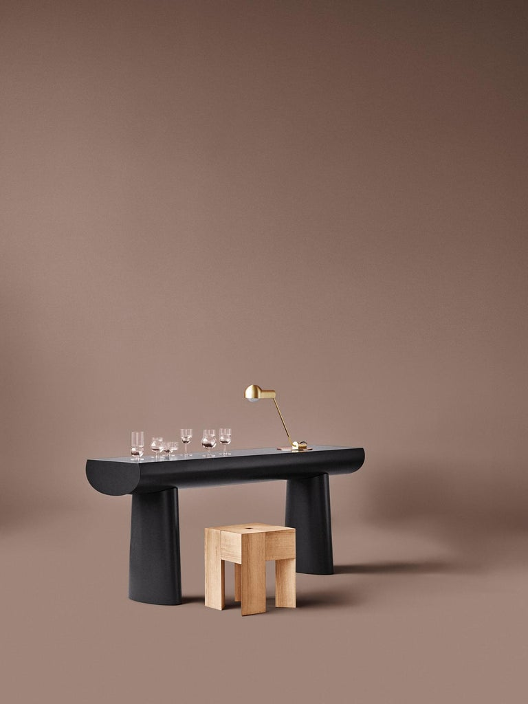 Aldo Bakker 'Triangle' Wood Stool or Side Table For Sale 1