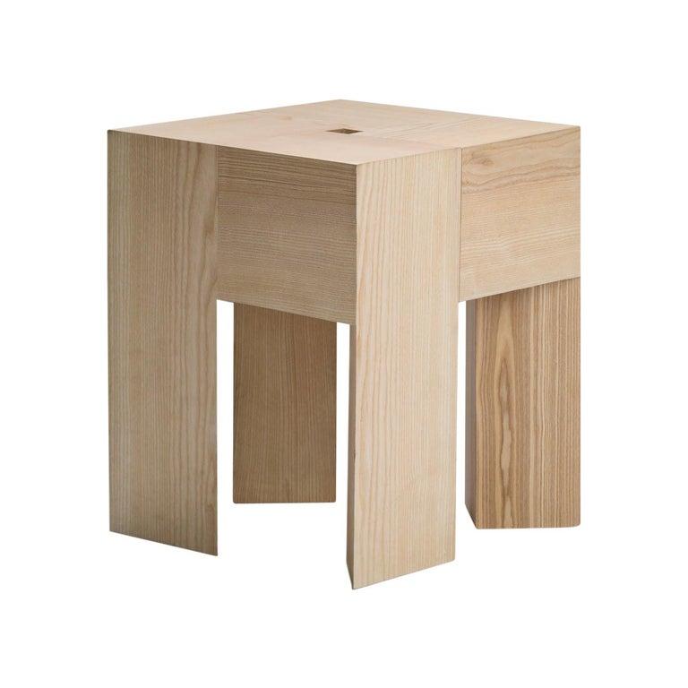 Aldo Bakker 'Triangle' Wood Stool or Side Table For Sale