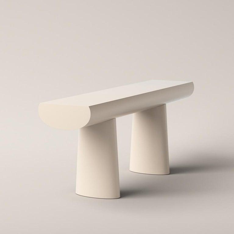 Mid-Century Modern Aldo Bakker Wood Console Table, Apricot Color by Karakter For Sale
