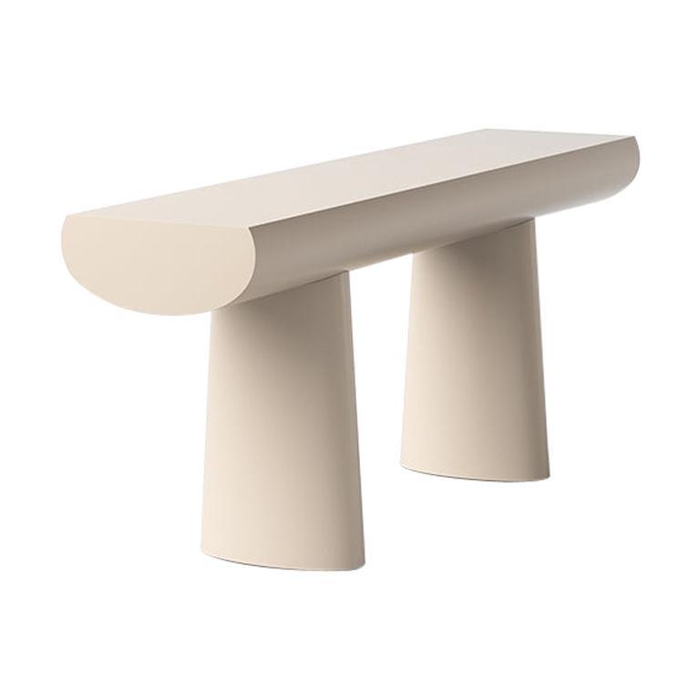 Aldo Bakker Wood Console Table, Apricot Color by Karakter For Sale