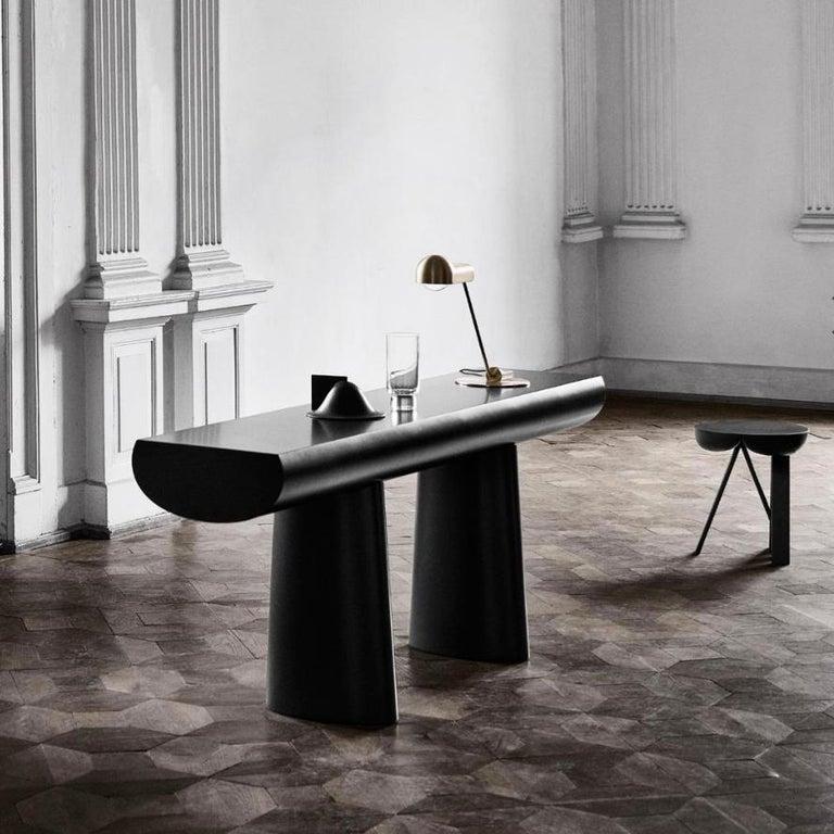 Aldo Bakker Wood Console Table, Dark Aubergine Color by Karakter For Sale 6