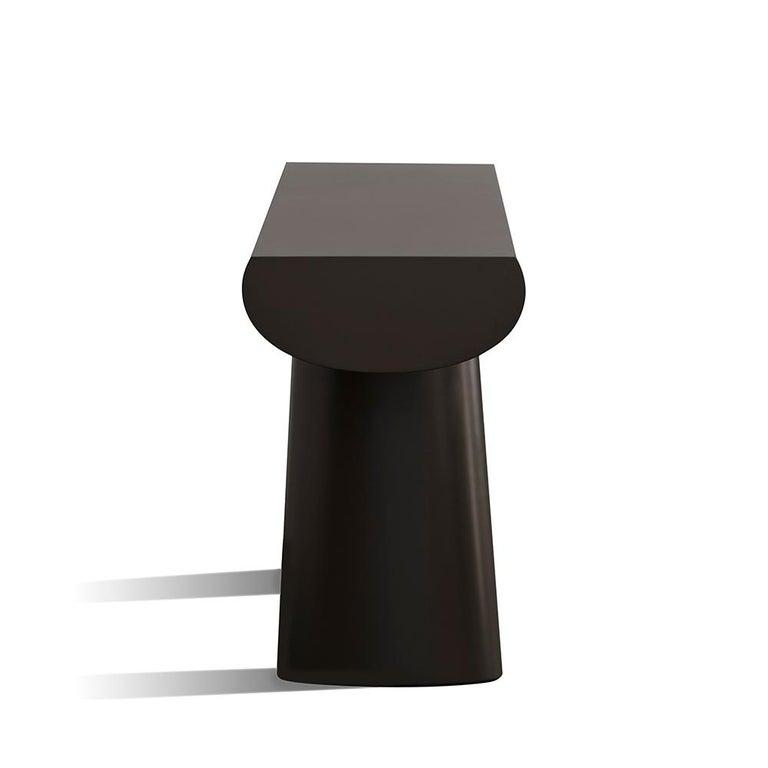 Aldo Bakker Wood Console Table, Dark Aubergine Color by Karakter In New Condition For Sale In Barcelona, Barcelona