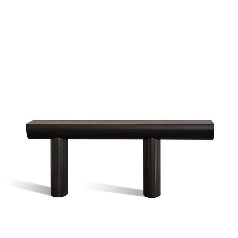 Aldo Bakker Wood Console Table, Dark Aubergine Color by Karakter For Sale 1