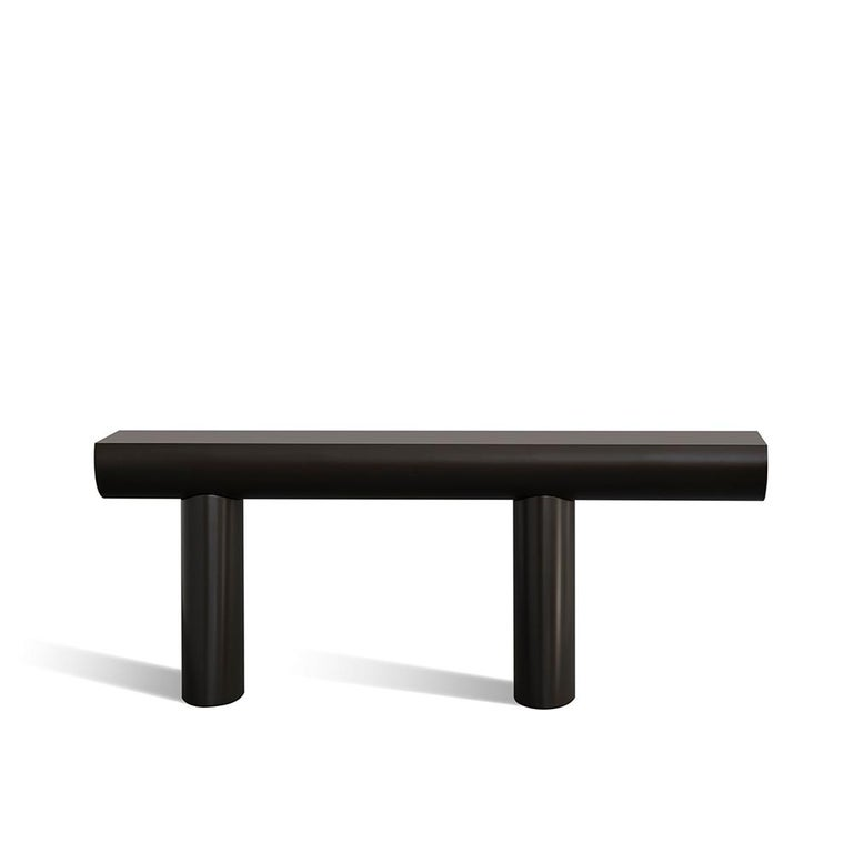 Aldo Bakker Wood Console Table, Dark Green Color by Karakter For Sale 6