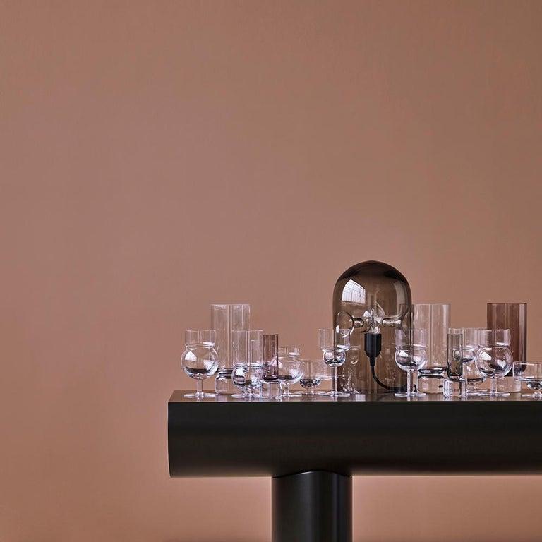 Danish Aldo Bakker Wood Console Table, Light Grey Color by Karakter For Sale