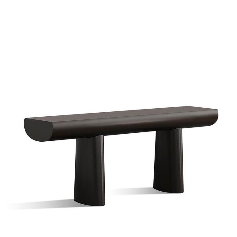 Aldo Bakker Wood Console Table, Midnight Blue Color by Karakter For Sale 4