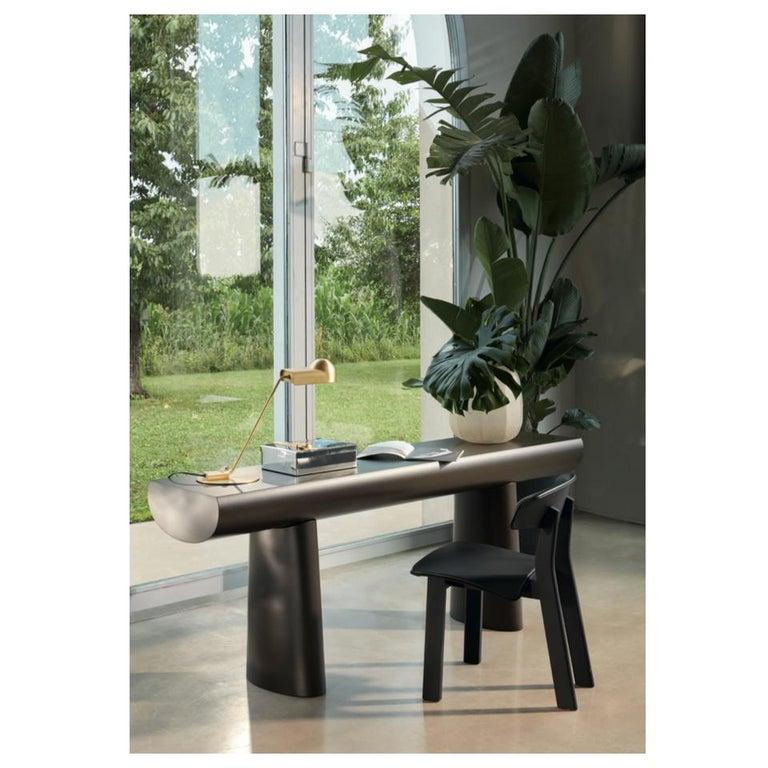 Aldo Bakker Wood Console Table, Midnight Blue Color by Karakter For Sale 8
