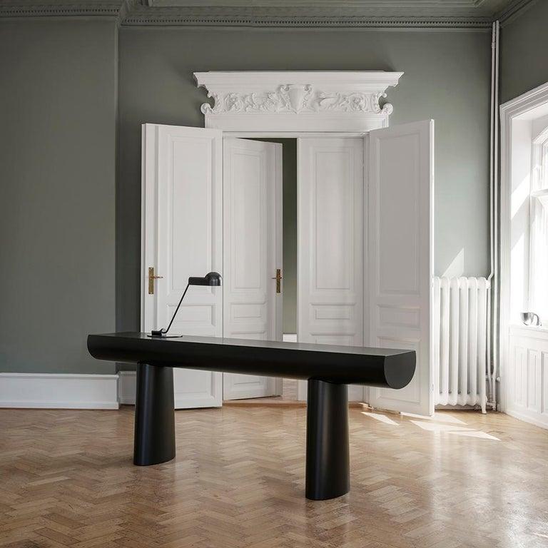 Contemporary Aldo Bakker Wood Console Table, Midnight Blue Color by Karakter For Sale