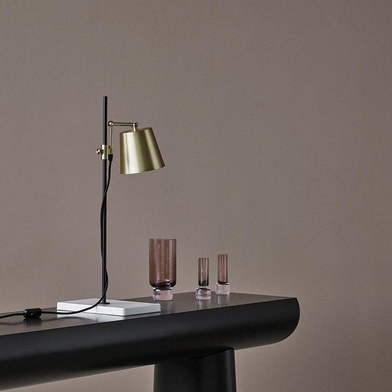 Aldo Bakker Wood Console Table, Midnight Blue Color by Karakter For Sale 1