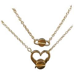 Aldo Cipullo 18 Karat Gold Long Love Chain