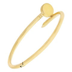 Aldo Cipullo 18k Yellow Gold Juste Un Clou Bracelet