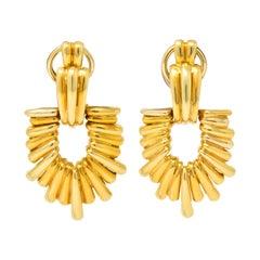 Aldo Cipullo Cartier Vintage 18 Karat Gold Door Knocker Ear-Clip Earring, 1970s