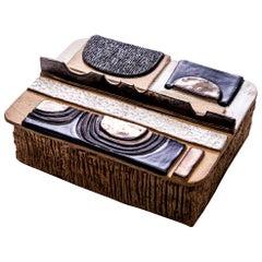 """Aldo"" Glazed Ceramic Box, Moderno Collection"