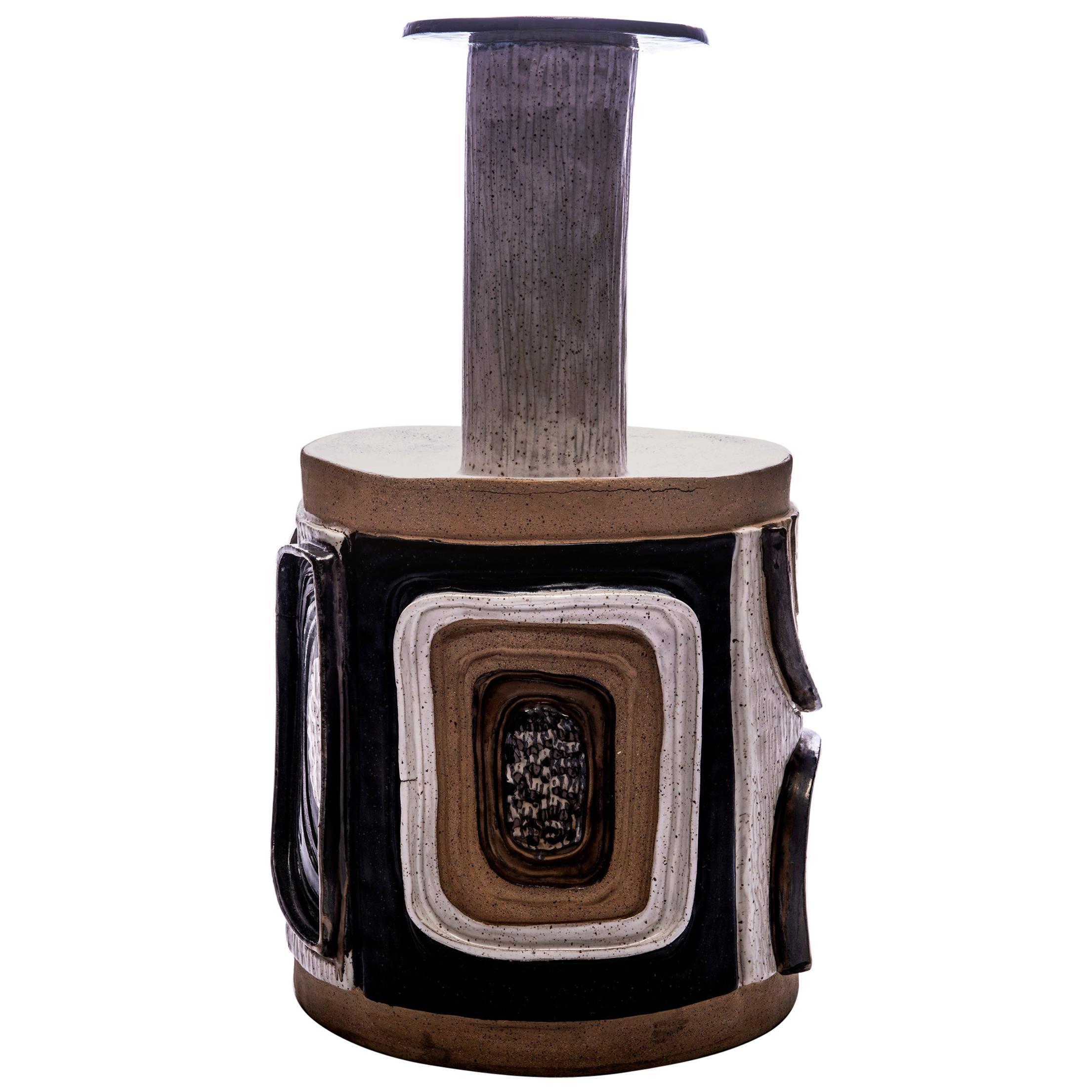 """Aldo"" Glazed Ceramic Vessel, Moderno Collection"