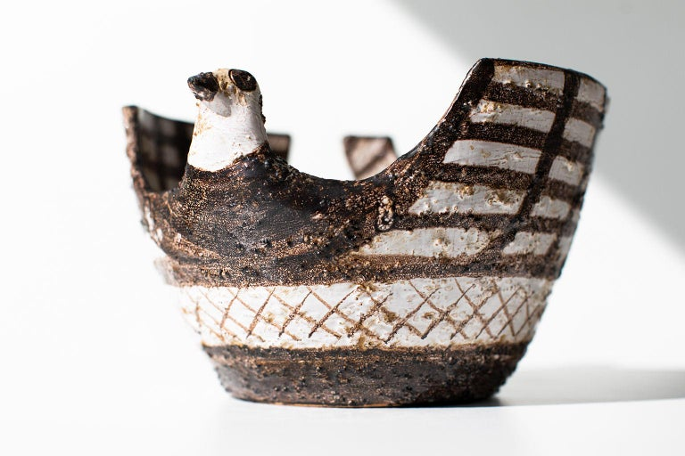 Mid-Century Modern Aldo Londi Bitossi Bird Vase for Rosenthal Netter: Marocco For Sale
