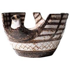 Aldo Londi Bitossi Bird Vase for Rosenthal Netter: Marocco
