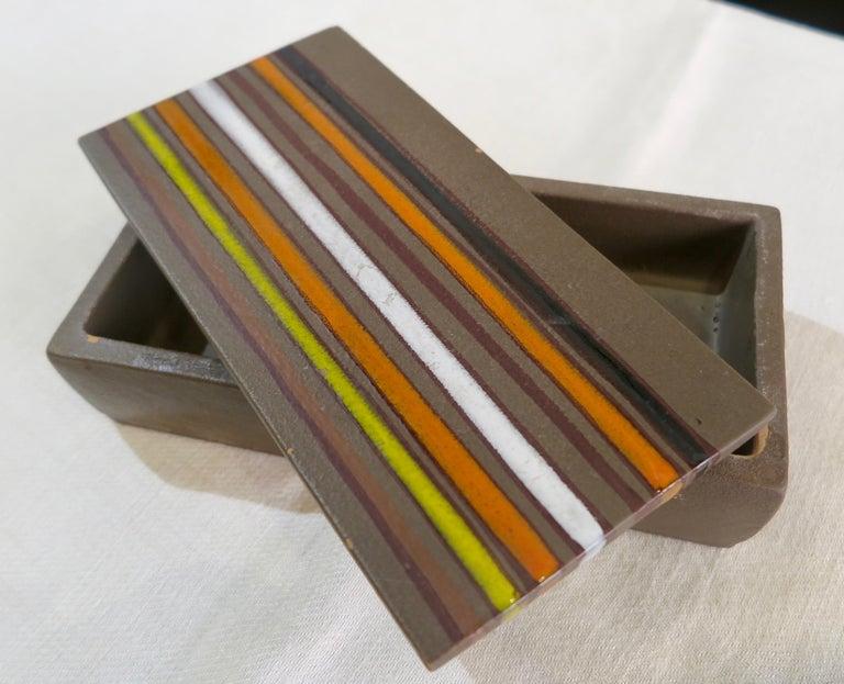 Mid-Century Modern Aldo Londi Bitossi Ceramic Box For Sale