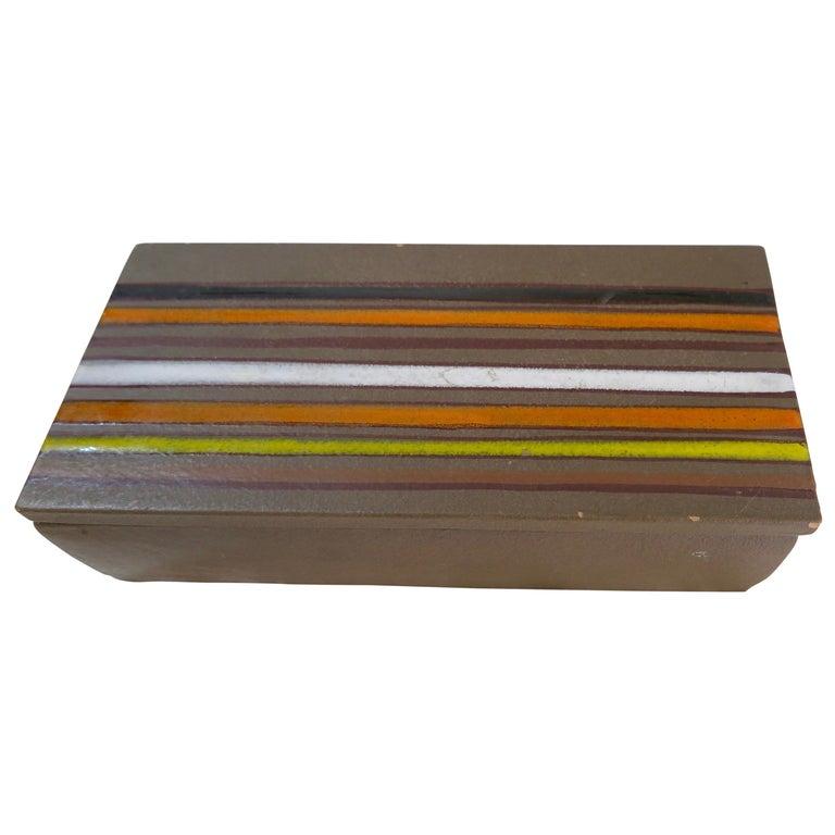 Aldo Londi Bitossi Ceramic Box For Sale