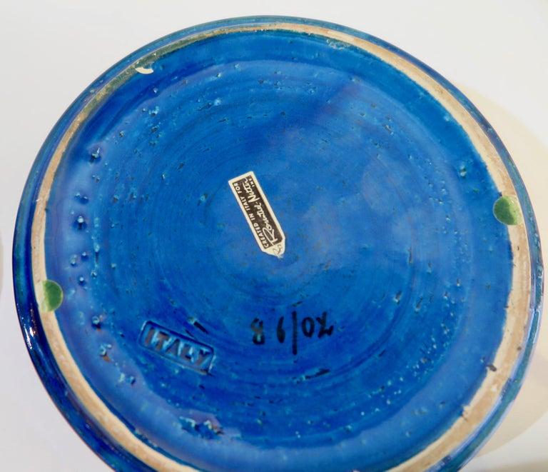 Glazed Aldo Londi Bitossi Round Ceramic Box For Sale