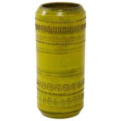 Aldo Londi Bitossi Vase, Ceramic, Chartreuse, Impressed, Signed