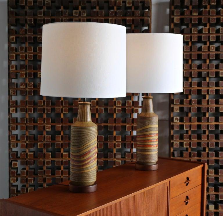 20th Century Aldo Londi Ceramic Table Lamps for Bitossi, circa 1960 For Sale
