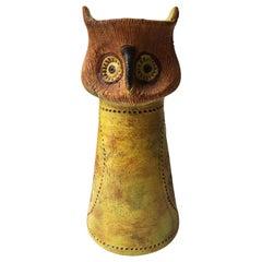 Aldo Londi for Bitossi Ceramic Owl  Rosenthal Netter