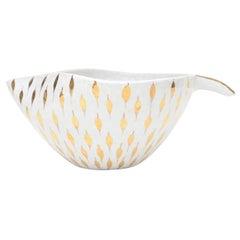 Aldo Londi For Bitossi Feather Plume Ceramic Bowl Vintage