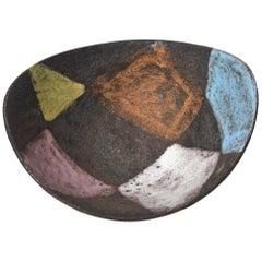 Aldo Londi for Bitossi Glazed Ceramic Bowl Mid-Century Modern Italian
