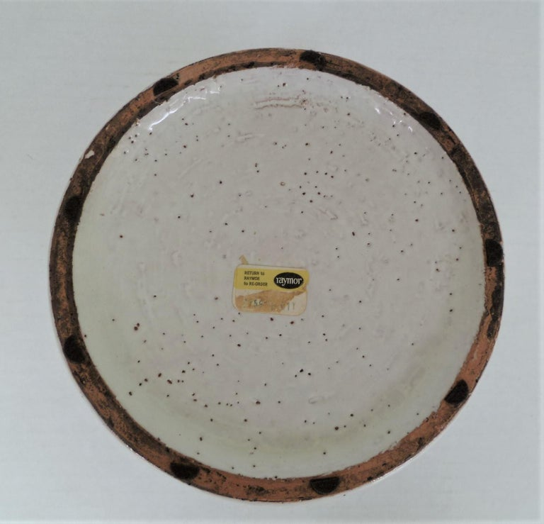 Mid-20th Century Aldo Londi for Bitossi Italian Organic Modern Pottery Cork Vase for Raymor 1960s For Sale