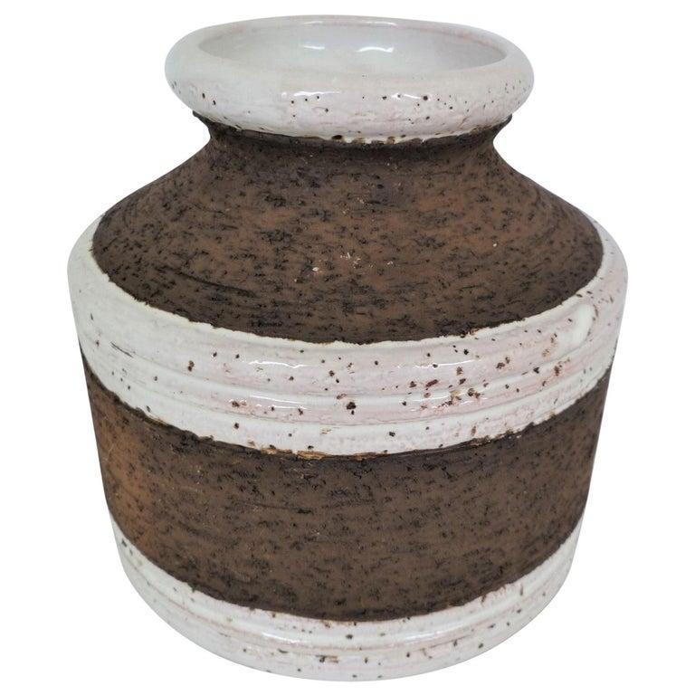 Aldo Londi for Bitossi Italian Organic Modern Pottery Cork Vase for Raymor 1960s For Sale