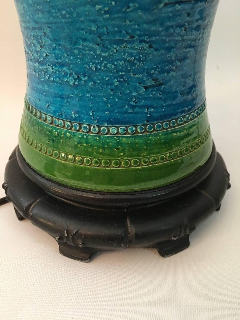 Aldo Londi for Bitossi Italian Pottery Lamp In Good Condition For Sale In Garnerville, NY