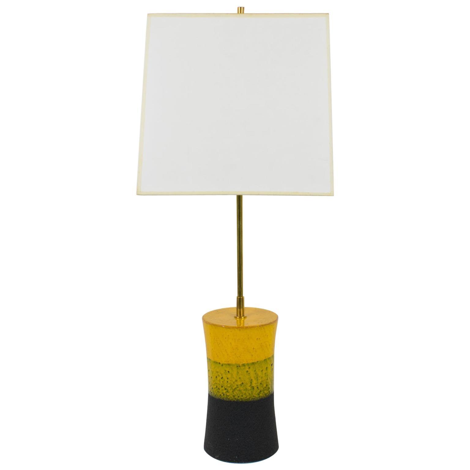Aldo Londi for Bitossi Italy 1960s Ceramic Table Lamp