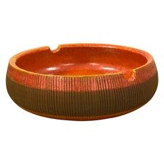 Aldo Londi for Bitossi Large Ashtray or Catchall, Italian Ceramic
