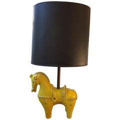 Aldo Londi for Bitossi Large Ceramic Horse Lamp
