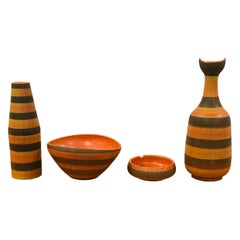 Aldo Londi for Bitossi, Lot of Italian Ceramics/ Pottery