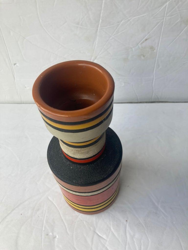 Modern Aldo Londi for Bitossi, Raymor Cambogia Pottery/Ceramic Vase For Sale