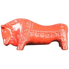 Aldo Londi for Bitossi Red Ceramic Bull
