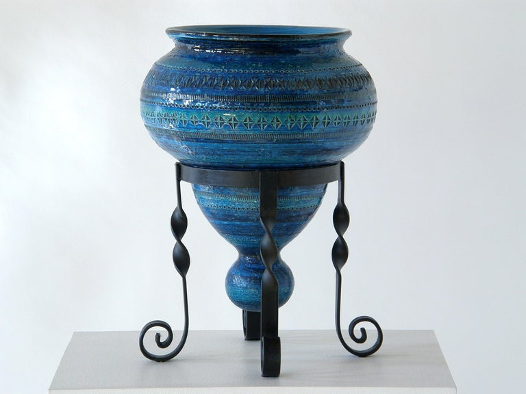 This unusual ceramic vase is attributed to Aldo Londi, from his