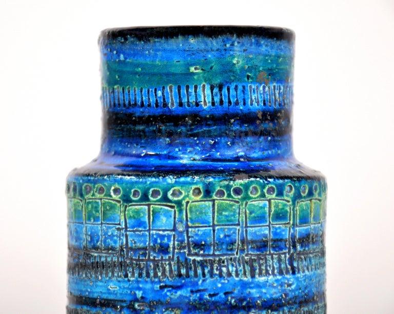 Glazed Aldo Londi for Bitossi Rimini Blu Vase