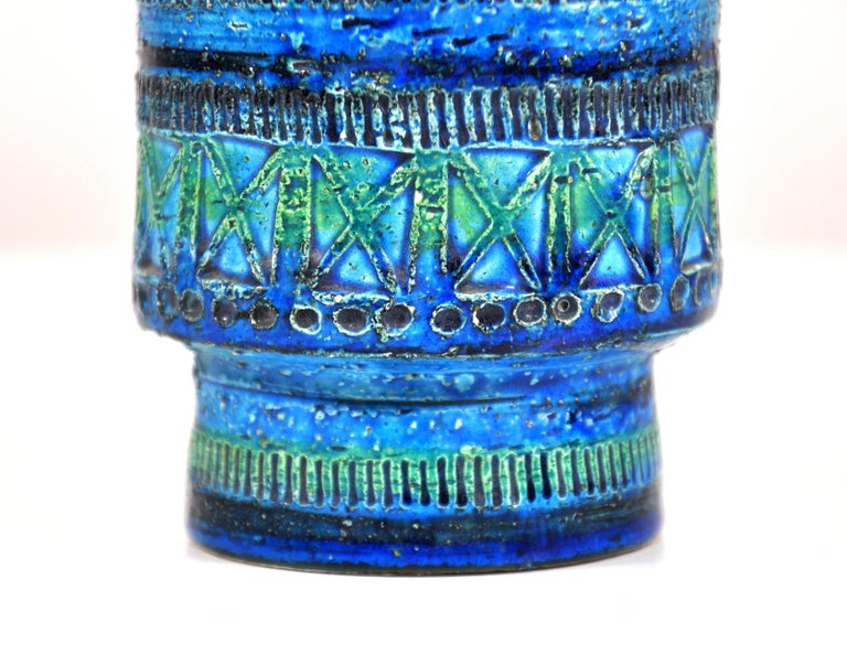 Aldo Londi for Bitossi Rimini Blu Vase In Good Condition In Miami, FL
