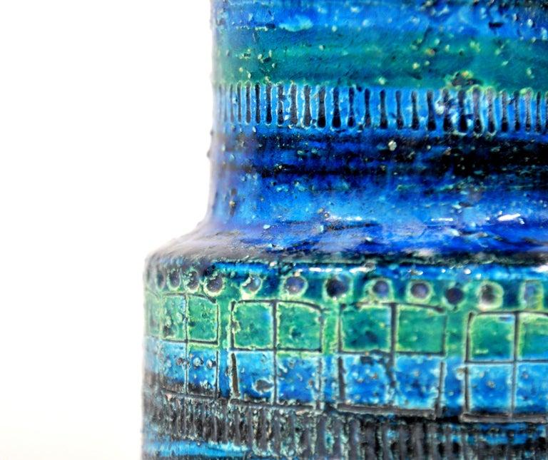 Ceramic Aldo Londi for Bitossi Rimini Blu Vase