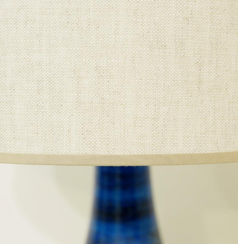 Aldo Londi for Bitossi 'Rimini Blue' Pottery Table Lamp, 1960s For Sale 1
