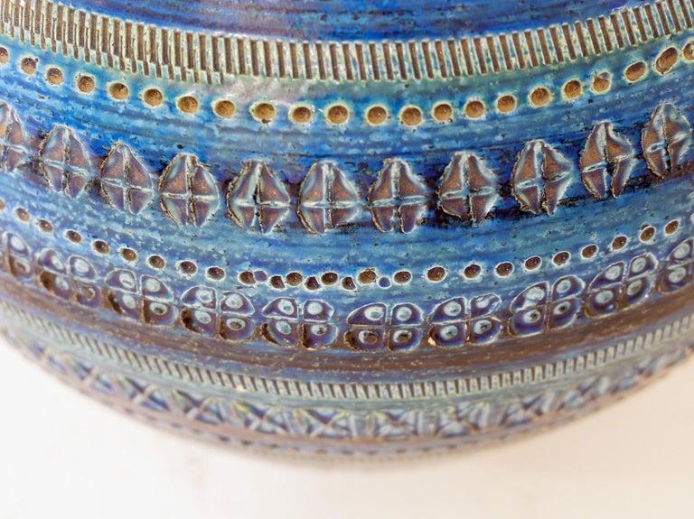 Aldo Londi for Bitossi 'Rimini Blue' Pottery table lamp, 1960s.