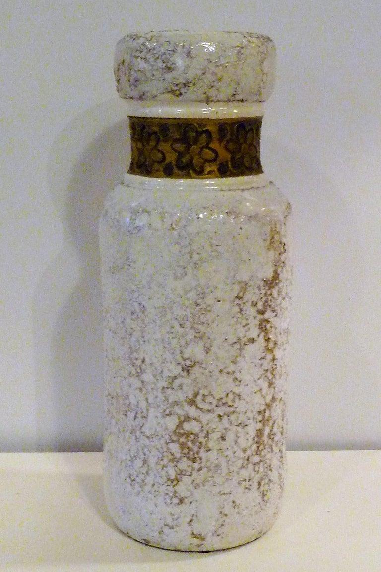 Mid-Century Modern Aldo Londi for Rosenthal Netter Bitossi Modern Textured Pottery Vase Italy 1960s For Sale