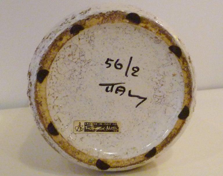 Ceramic Aldo Londi for Rosenthal Netter Bitossi Modern Textured Pottery Vase Italy 1960s For Sale